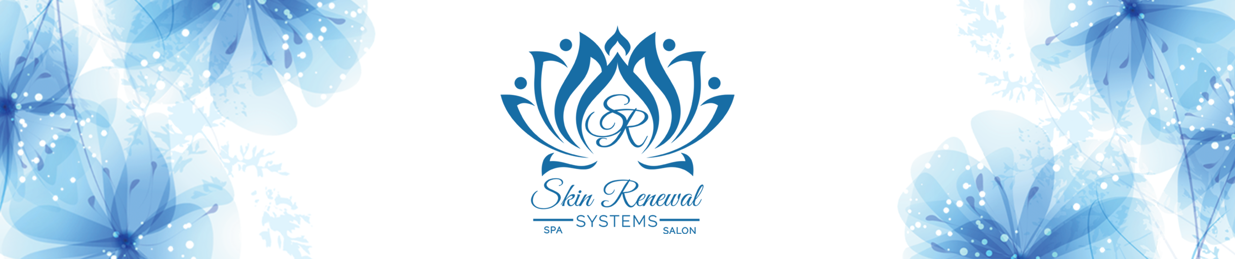 Skin Renwal Systems Logo header with flowers