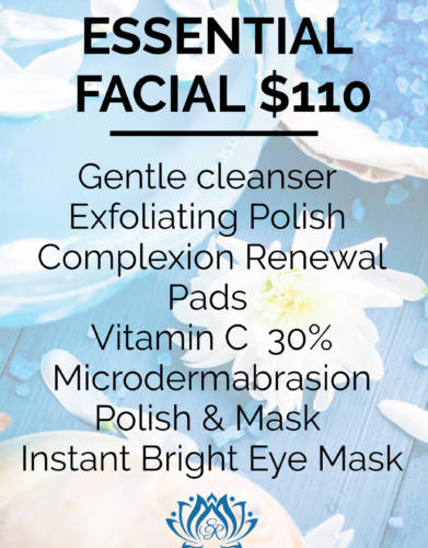 Essential Facial available at Skin Renewal Systems