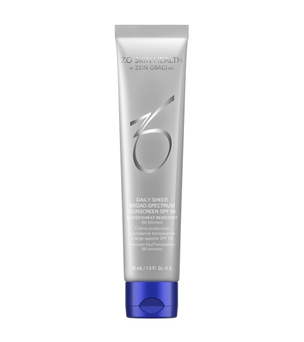 ZO Daily Sheer Broad Spectrum Sunscreen SPF 50 available at Skin Renewal Systems