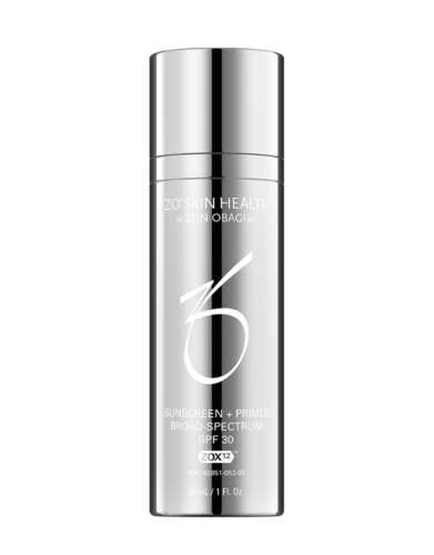 ZO Sunscreen + Primer SPF 30 available at Skin Renewal Systems